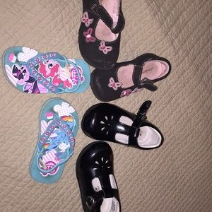 3 pairs toddler size 6 shoes